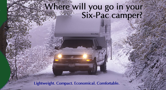 Six Pac Camper Lightweight Affordable Truck Campers